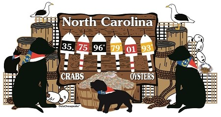 Outa Chesapeake® North Carolina Buoy Dogs