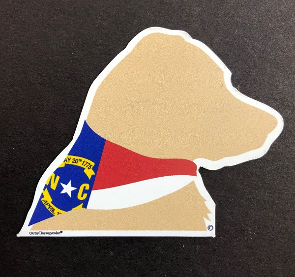 NC Yellow Dog Head Magnet