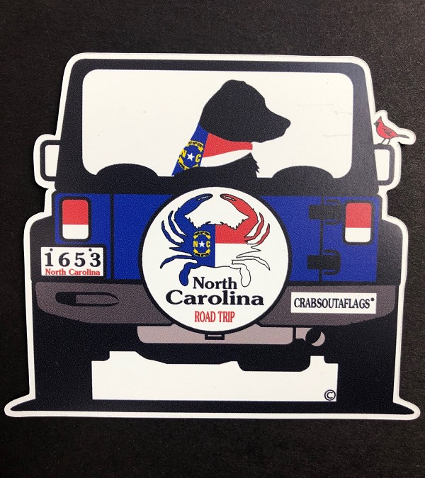 North Carolina Road Trip Magnet and Decal