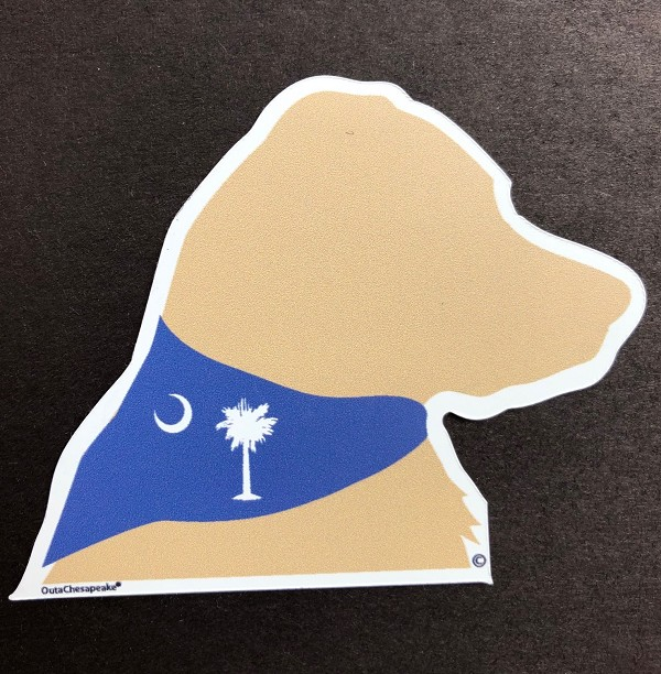 South Carolina Yellow Dog Head Magnet