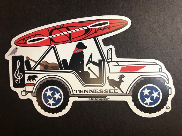 Tennessee Surf Buggy Magnet