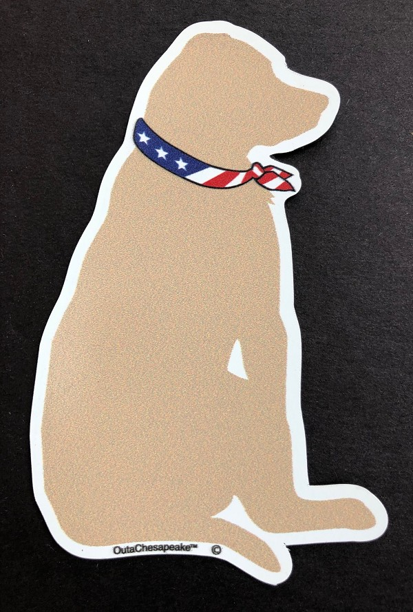 All American Yellow Dog Magnet